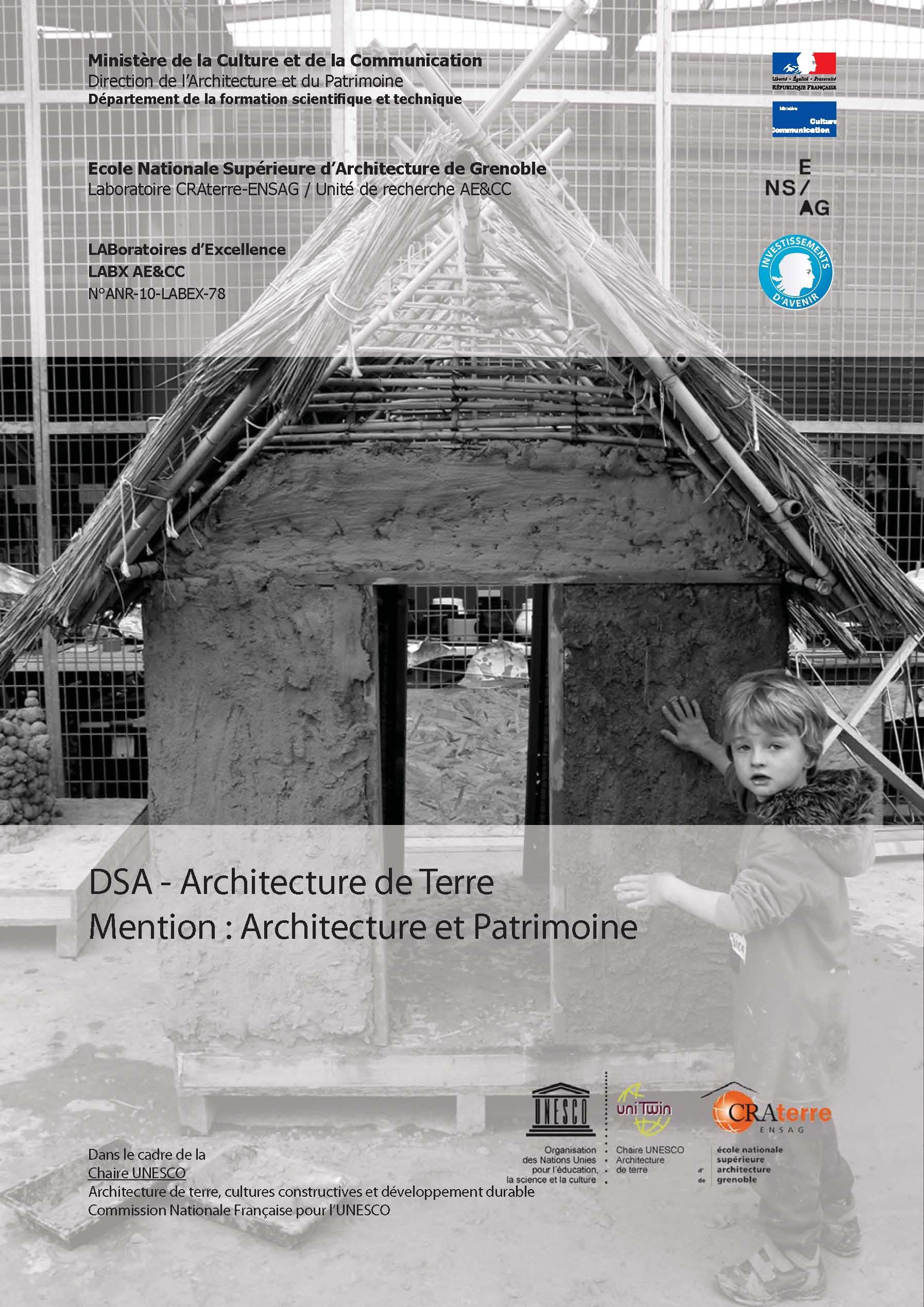 Inscriptions au dsa architecture de terre unit de for Dsa architecture