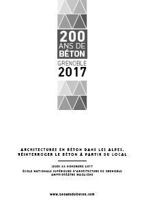 Séminaire international Architectures en béton dans les Alpes. Réinterroger le béton à partir du local