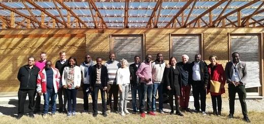 Visite des Belges et Congolais
